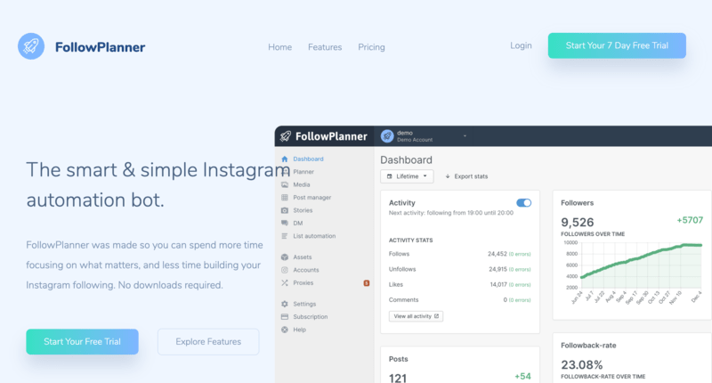 Bot Instagram FollowPlanner