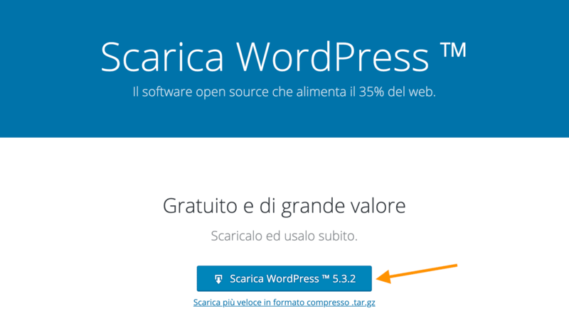 Download di wordpress.org